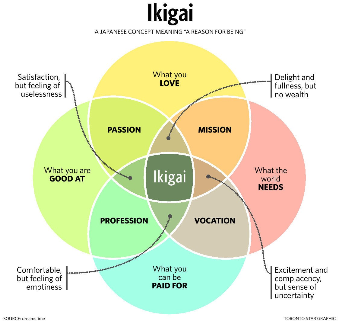 Ikigai Diagram - Source: Toronto Star